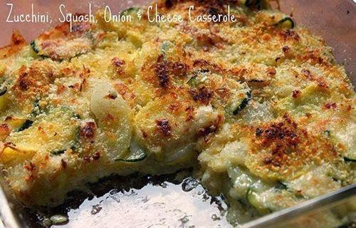 Zucchini, Squash, Onion and Cheese Casserole - A Country Momma