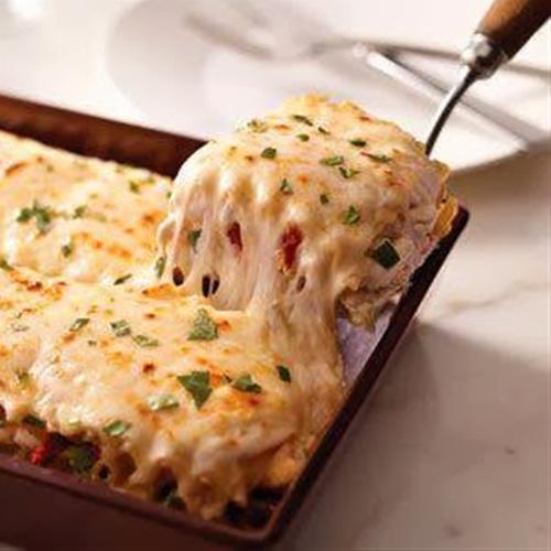 Creamy white chicken alfredo lasagna recipe | Chefthisup