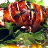 Bacon wrapped chicken with lemon sage butter sauce