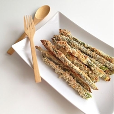 Crispy Parmesan and Panko Asparagus