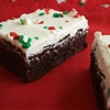 Peppermint Brownies with Peppermint Buttercream