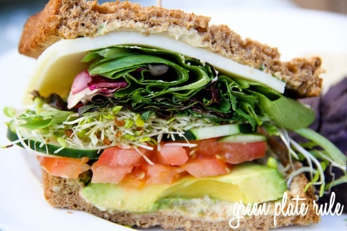 Veggie Sandwich with Avocado Spread
