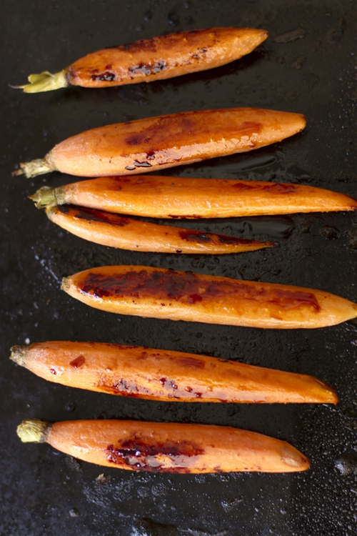 Honey and Ponzu Glazed Roasted Carrots