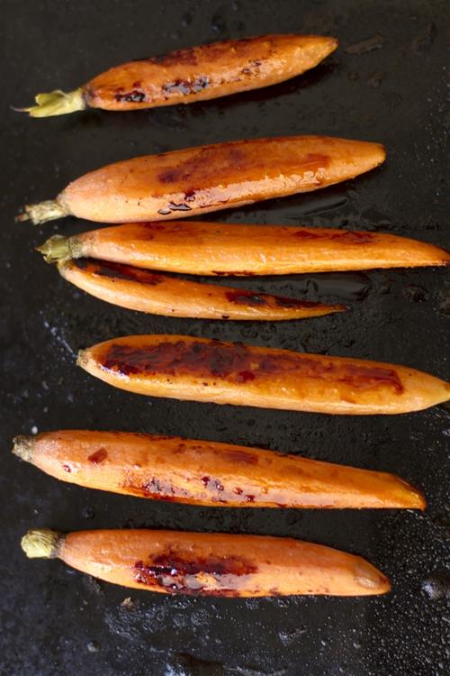 Honey and Ponzu Glazed Roasted Carrots