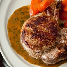 Easy Baked Pork Chops with White Wine–Mustard Sauce Recipe