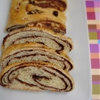 Danish chocolate-streusel-swirled coffee cake