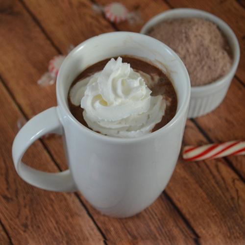 Homemade peppermint hot chocolate mix