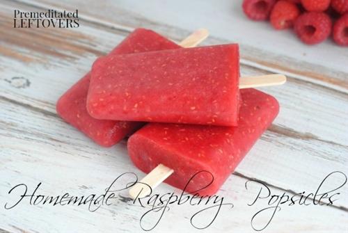 Easy Homemade Raspberry Popsicles
