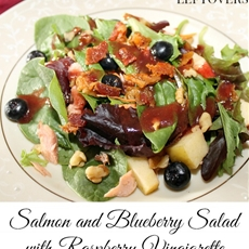 Salmon and Blueberry Salad with Raspberry Vinaigrette