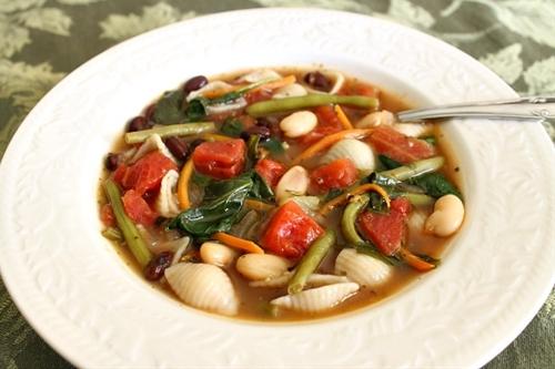 Vegetable Garden Minestrone Soup