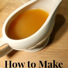 How to Make Turkey Gravy