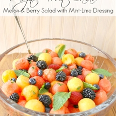 Melon & Berry Salad with Mint