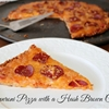 Pepperoni Pizza Made with a Hash Brown Pizza Crust