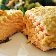 Hummus Crusted Salmon