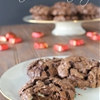Christmas Chocolate Drop Cookies with Dove Promises Dark Chocolate