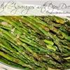 Roasted Asparagus with Dijon Dressing