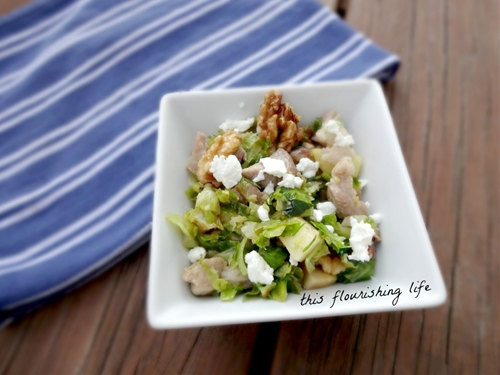 Brussels Sprout And Pork Belly Salad