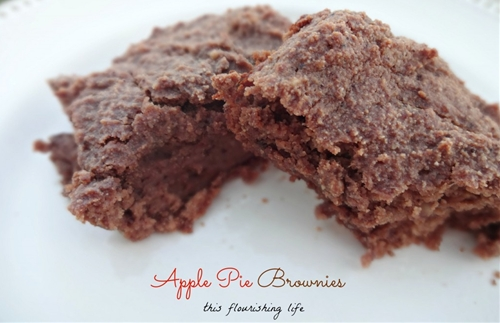Apple Pie Brownies