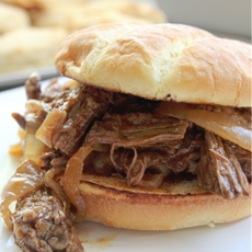 Slow Cooker Bourbon Barbecue Beef Sandwiches