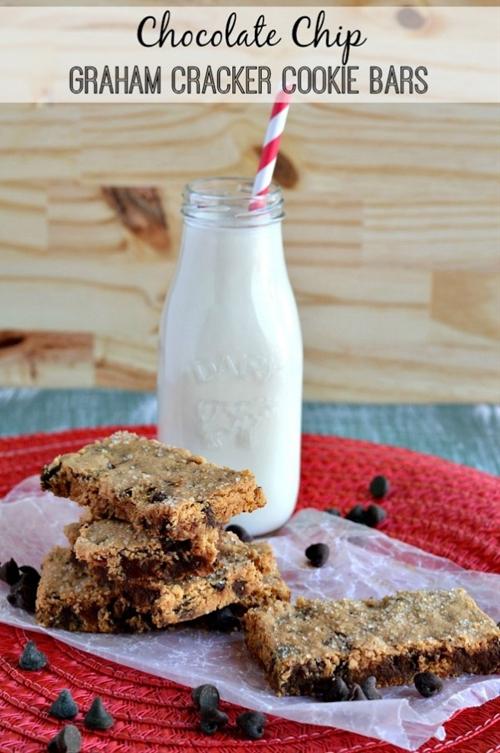 Chocolate Chip Graham Cracker Cookie Bars
