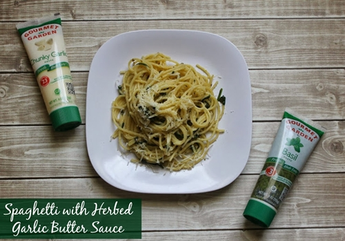 Pasta with Herbed Garlic Butter Sauce