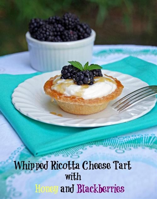 Ricotta Cheese Tart with Honey and Fresh Blackberries
