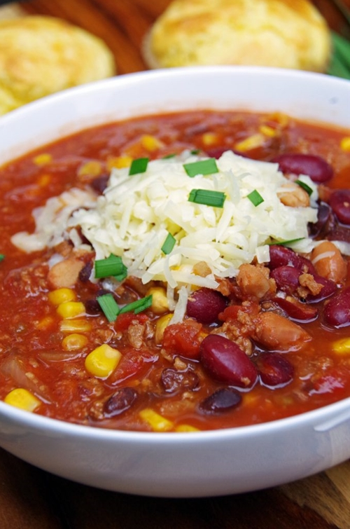 Easy Vegetarian Crockpot Chili