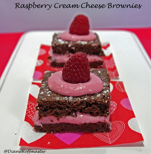 Raspberry Creamcheese Brownies