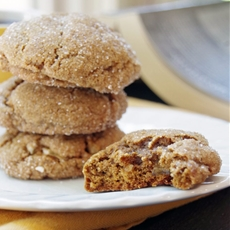 Pumpkin Ginger Snaps with Crystalized Ginger