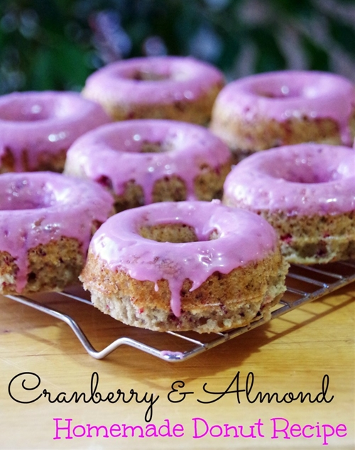 Cranberry Almond Donut