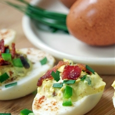 Zesty Jalapeno and Bacon Deviled Egg