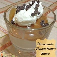 Homemade Peanut Butter Sauce
