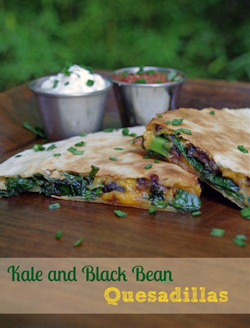 Kale and Black Bean Quesadillas