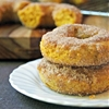 Pumpkin Donuts with Cinnamon and Sugar