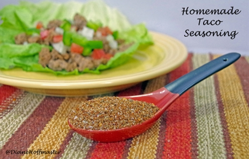 Homemade taco seasoning & paleo diet taco wraps