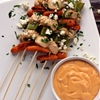 Buffalo Bleu Cheese Chicken Skewers