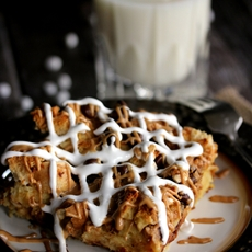 Banana Chocolate Chip Fluffernutter French Toast Casserole