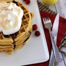 Raspberry Lemon Meringue Waffles