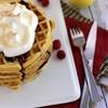 Raspberry Lemon Meringue Waffles