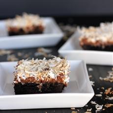 Dark Chocolate Coconut Macaroon Brownies