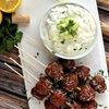 Moscato Meatball Skewers #SundaySupper