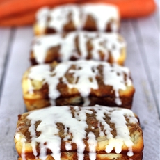 Ginger Carrot Cakes with Cream Cheese Glaze