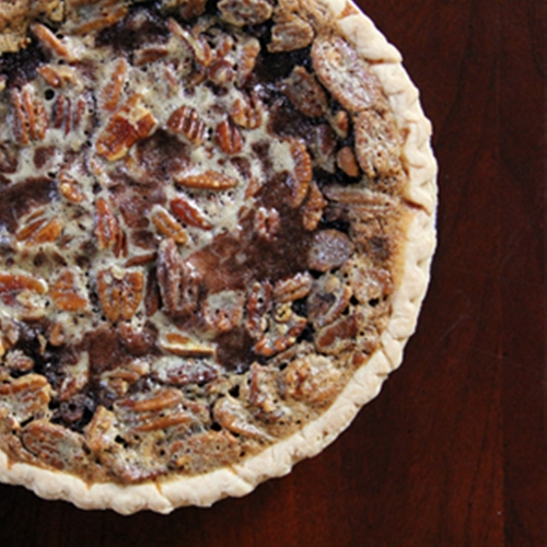 Dark Chocolate Brownie Pecan Pie