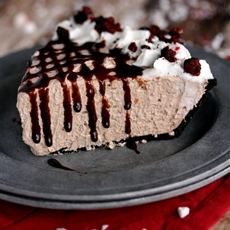 Oreo Dark Chocolate Peppermint No Bake Cheesecake