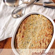 Southwest Sweet Corn Souffle