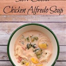 Slow Cooker Chicken Alfredo Soup