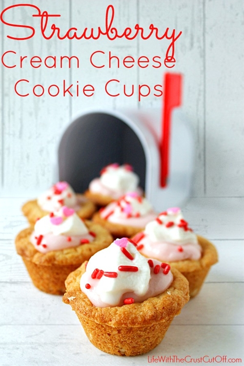 Strawberry Cream Cheese Cookie Cups