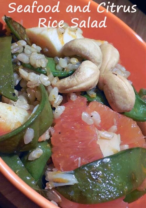 Mixed Seafood and Citrus Rice Salad - 350 Calorie Dish