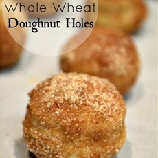 Baked Whole Wheat Doughnut Holes