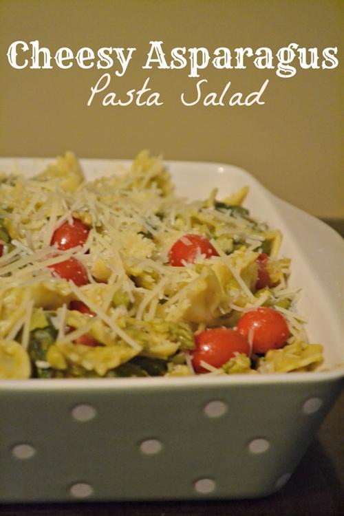 Cheesy Asparagus Pasta Salad